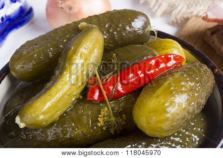 Pickles In A Clay Bow