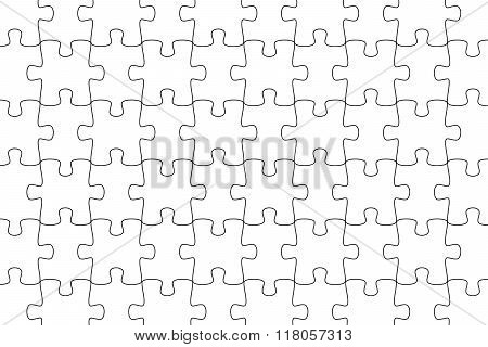 White Puzzle Background Jigsaw Puzzle
