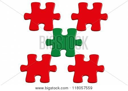 Red And Green 3D Jigsaw Puzzle