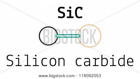 SiC silicon carbide molecule