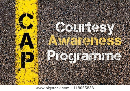 Business Acronym Cap Courtesy Awareness Programme