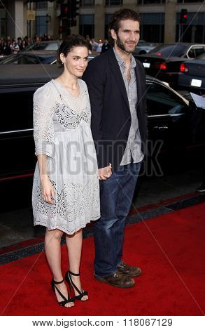 Amanda Peet and David Benioff at the Los Angeles Premiere of