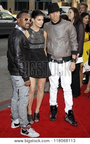 Apl.de.ap, Fergie and Taboo of The Black Eyed Peas at the Los Angeles Premiere of