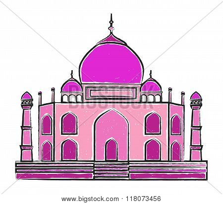 The Taj Mahal vector illustration