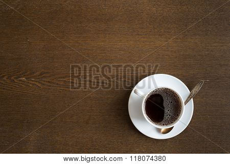 Cup of coffee on grunge