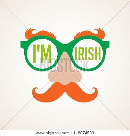hipster Irish man for St. Patricks day