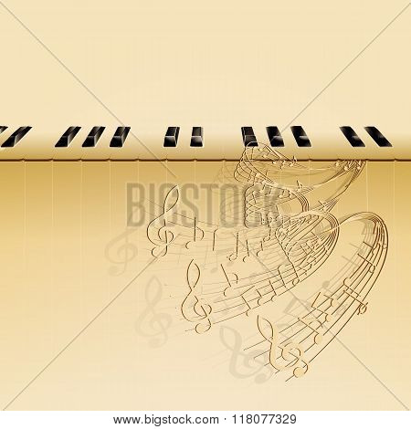 Musical Background Piano Keys