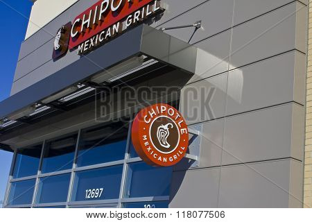 Indianapolis - Circa February 2016: Chipotle Mexican Grill Restaurant IV