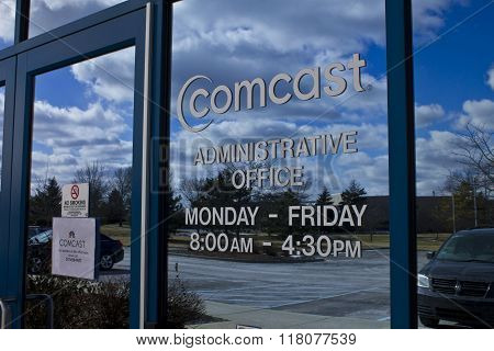 Indianapolis - Circa February 2016: Comcast Administrative Office II