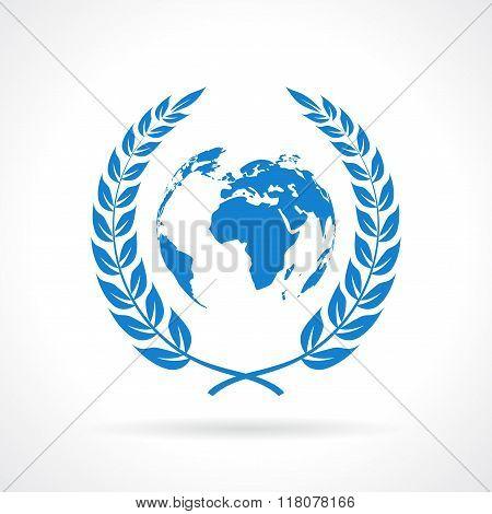 Peace earth symbol