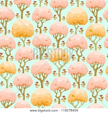 Spring forest seamless pattern