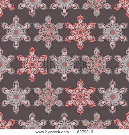 Hexagon mandala seamless pattern