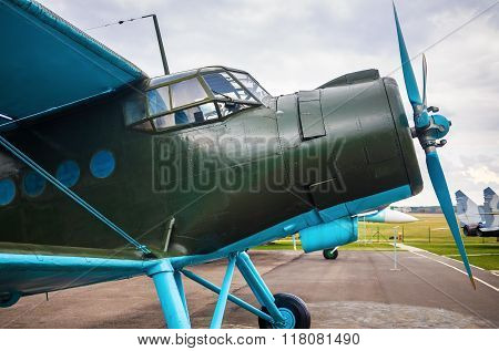 Retro Airplane With Propeller