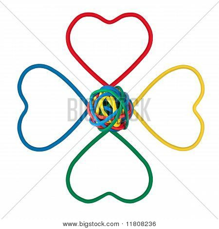 It Flower Shape, Colored Cables