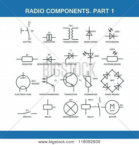 Designation Of Components In The Wiring Diagram