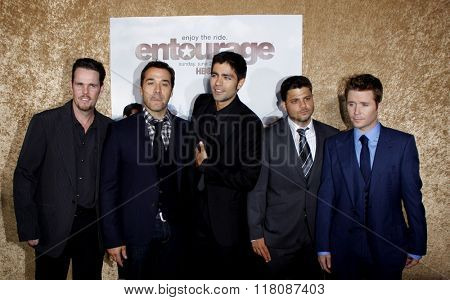 Kevin Dillon, Jeremy Piven, Adrian Grenier, Kevin Connolly and Jerry Ferrara at the Season 7 Premiere of