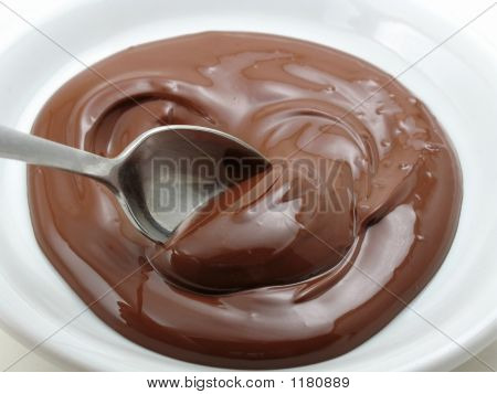 Spoon In A Pool Of Chocolate