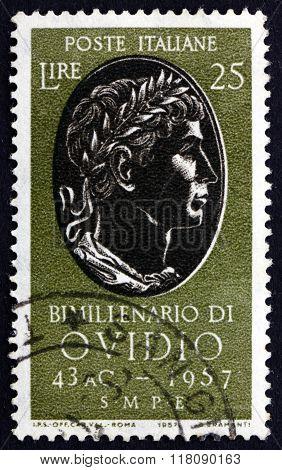 Postage Stamp Italy 1957 Ovid, Roman Poet