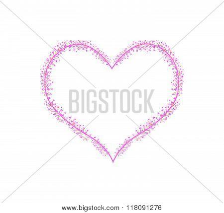Pink Flower Buds In A Heart Shape
