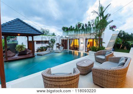Gazebo tropical villa