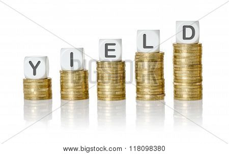 Coin Stacks With Letter Dice - Yield