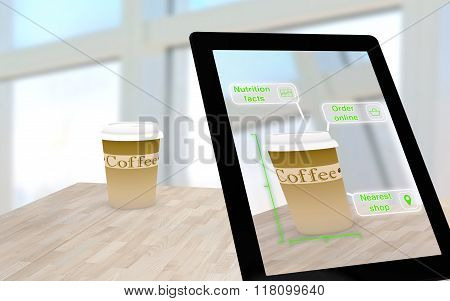Augmented Reality Coffee On A Table