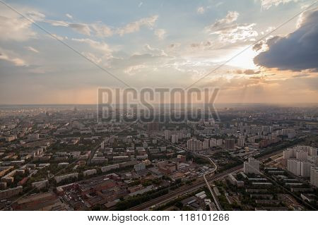 Birdseye View Of Moscow