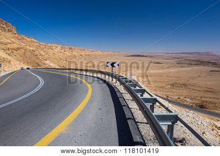Beautiful road in Israel desert