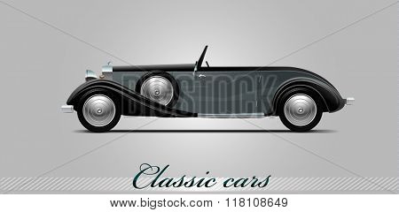 NOVI SAD, SERBIA - JANUARY 11, 2016: Vector illustration of 1936 Duesenberg,  eps10, vector, illustrative editorial - stock vector
