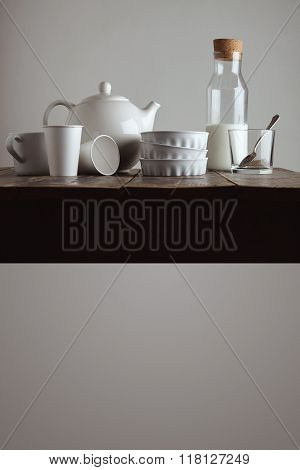 Kitchen Wares Presentation Isolated On White