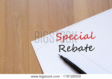 Special Rebate Write On Notebook