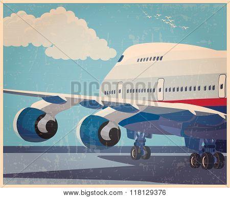 Big Civil Aircraft Old Poster