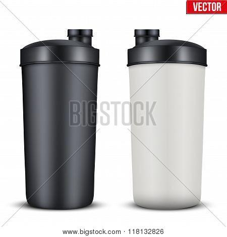 Mockup Plastic Sport Nutrition Drink Bottle.