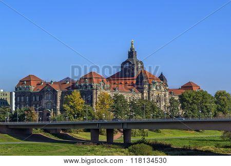 The Sachsische Staatskanzlei (saxon State Chancellery), Dresden