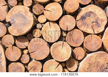 Stack Of Wood Background