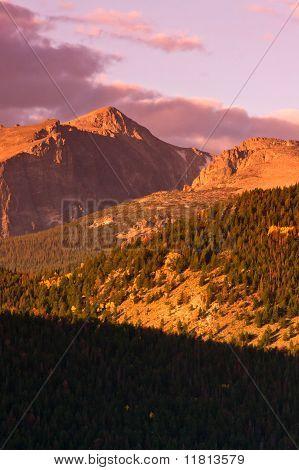 Sunrise Over Long's Peak