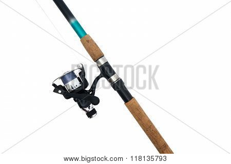 Fishing Rod With Reel, Isolated On White
