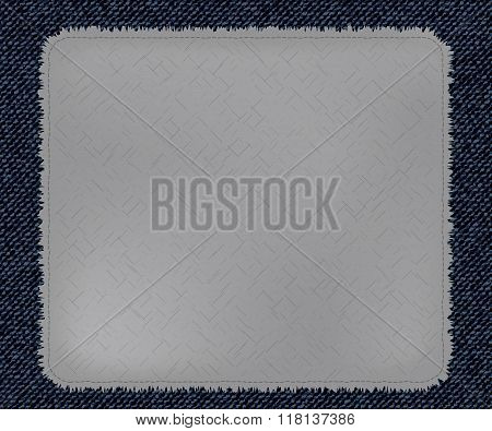 a cool patchwork as Blue Jeans Element template. Vector Patch, Fragments.