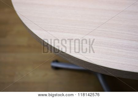 Corner Of The Wooden Table In Modern Office