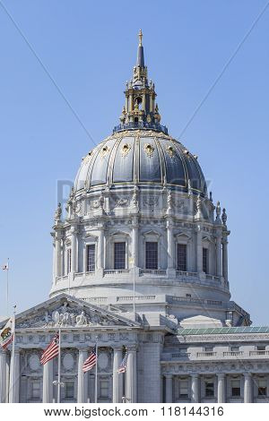San Francisco City Hall Is Beaux-arts Architecture And Located In The City's Civic Center.
