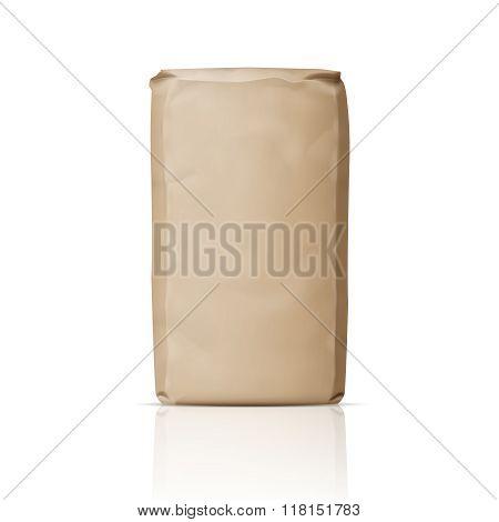 Blank paper sugar bag.