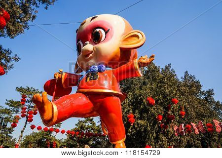 Spring Festival Temple Fair, during Chinese New Year, the year of monkey
