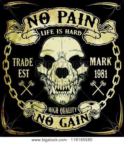 Skull Graphic Design With Slogans