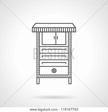 Electrical furnace flat line vector icon