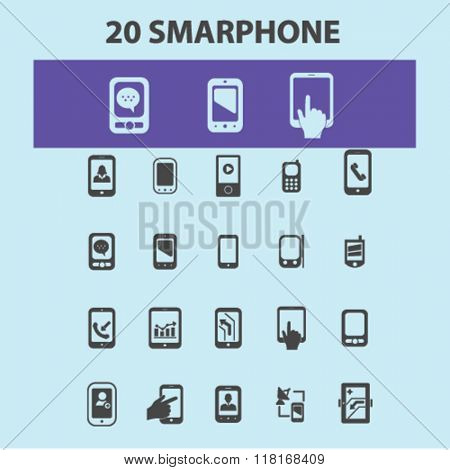 Smartphone icons, cell, smartphone isolated, phone icons