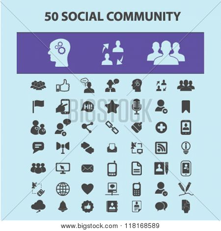 Social media icons, social community concept, blog icon, social media logo, community, social concept, social network, user, avatar icons
