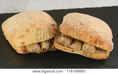 Sausage On Bread Cobs