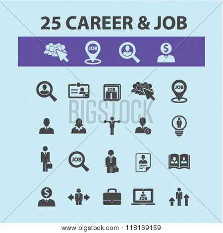career concept, career icons, job icons, career growth, career opportunities, career development icon