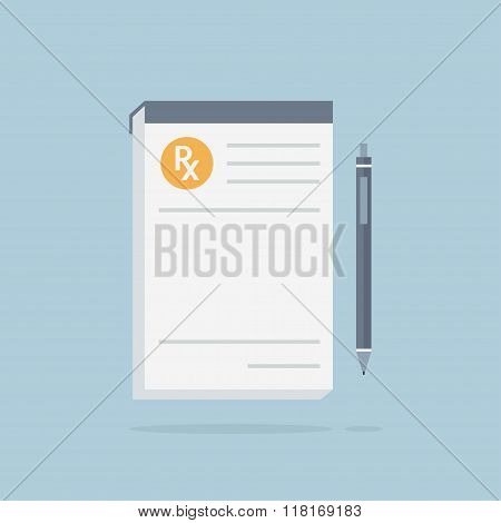 Prescription Pad Vector Illustration