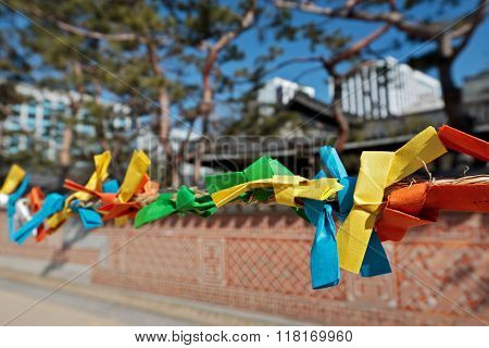 Color Paper Strips For Making Wishes During Seollal (Korean New Year)